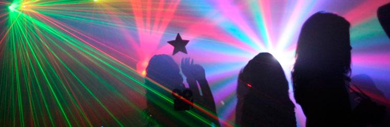 fest med laserlys